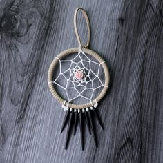 Wild Rose Dreamcatcher - in Diameter by WildwoodCeramics on Etsy Dream Catcher, Handmade Items, Group, Amazing, Board, Creative, Etsy, Vintage, Decor