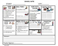 Home to School Communication- A one page communication between teacher and parent Life Skills Classroom, Classroom Behavior, Autism Classroom, New Classroom, Special Education Classroom, Classroom Management, Behavior Log, Classroom Ideas, Parent Teacher Communication