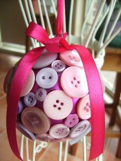 Christmas Button Bauble