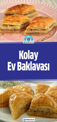Easy Home Baklava Recipe # Evbaklava of Easy Home Baklava Recipe # Evbaklava of Baklava Recipe, Hot Dog Buns, French Toast, Cooking Recipes, Bread, Lime, Homemade, Breakfast, Desserts