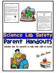 This item includes tips for parents to help their child at home with science lab safety skills. Very convenient for busy teachers and students alike.------------------------------------------------------------------------------------------INCLUDES:-Parent Letter (encourages help at home)-Science Lab Safety Parent Teaching Tips------------------------------------------------------------------------------------------*5 Pages Total.-Look for similar versions of this product in my store by…