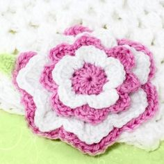 21.multi layer crochet flower pattern for hat beanie