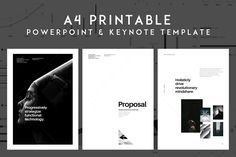 A4 PowerPoint Presentation for Print by GoaShape on @creativemarket