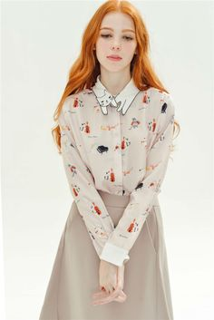 Retro Piano Cat Long Sleeve Blouse. Free 3-7 days expedited shipping to U.S. Free first class word wide shipping. Customer service: help@moooh.net
