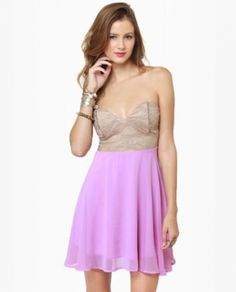 Taupe and Lavender Dress. http://www.vudress.com/tarara-bustier-taupe-and-lavender-dress-p-1167.html