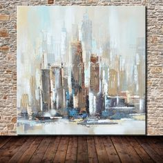 Mintura Hand Painted New York City Oil Paintings On Canvas Modern Abstract Wall Art Pictures For Living Room Home Decor Artwork Living Room Pictures, Wall Art Pictures, Sports Wedding, Cheap Paintings, Oil Paintings, Skyline Painting, Rooms Home Decor, Accessories Shop, Computer Accessories
