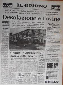 IL GIORNO DESOLAZIONE E ROVINE ALLUVIONE FIRENZE..6 NOVEMBRE 1966