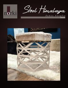 Stool Himalaya by James Lenglin Design and produce by Norki Décoration