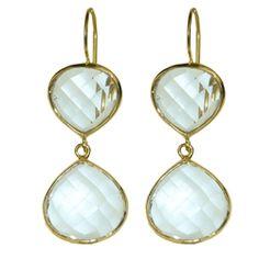 GEARYS | Double Quartz Dangle Earring | Luxury Fashion Jewelry
