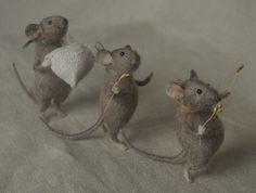 Cute Felt Mice.