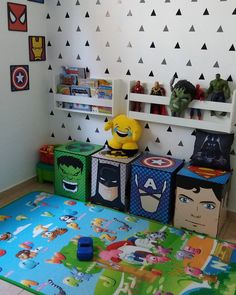 Kids toy room decor the ultimate convenience 00014 ~ Home Decoration Inspiration Boy Toddler Bedroom, Boys Bedroom Decor, Baby Boy Rooms, Bedroom Ideas, Big Boy Bedrooms, Baby Room Storage, Toy Storage, Kids Storage, Marvel Bedroom