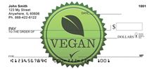 Vegan Personal Checks - put your money where your mouth is :)