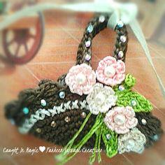 Basket of flowers fridge magnet ♥♥