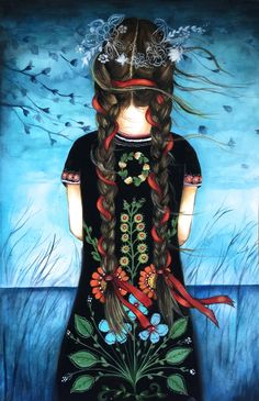 ORIGINAL art claudia tremblay her black dress by claudiatremblay on Etsy