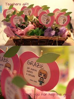 Regalo di Anna per le maestre del nido Teacher gift - thank you for help me grow