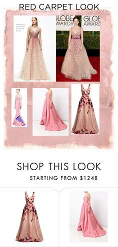 """""""Red carpet"""" by jesseelovesbeauty ❤ liked on Polyvore featuring Rothko, Monique Lhuillier, Lela Rose and Oscar de la Renta"""