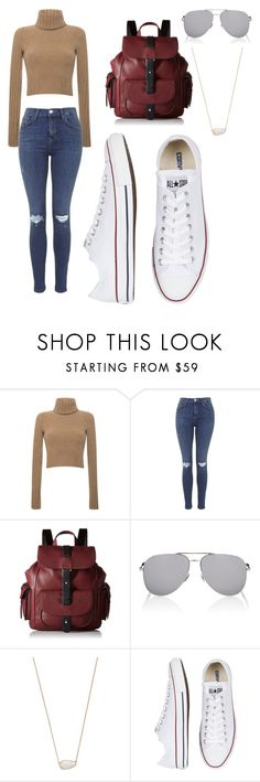 """Casual but cute"" by miloxx ❤ liked on Polyvore featuring Blumarine, Topshop, Kenneth Cole Reaction, Yves Saint Laurent, Kendra Scott and Converse"