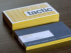 Unique Business Card, Tactic via @gazwilliams #Business #Cards #Design