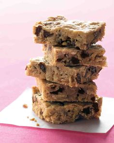 Oatmeal-Raisin Bars Recipe