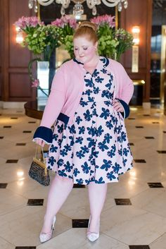 Introducing Draper James x Eloquii: featuring their Hibiscus Fit and Flare Dress and Scallop Trim Cardigan available in plus sizes Curvy Outfits, Trendy Outfits, Plus Size Outfits, Stylish Plus Size Clothing, Plus Size Fashion For Women, Curvy Fashion, Girl Fashion, Fashion Outfits, Fashion 101