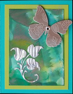 Greeting Card - Silver Butterfly