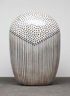 ceramicsnow:  Jun Kaneko: Black & White at Bentley Gallery,...