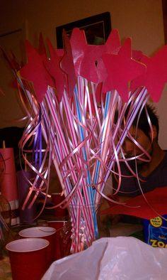 Pixie stick princess wand take aways