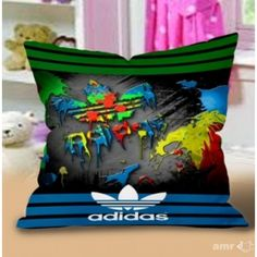 Adidas Color Painting Logo New Hot Design art Pillow Case