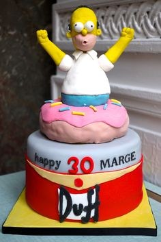 Woo Hoo ! Homer Duff Donut cake