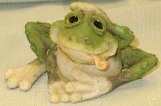 "Filbert The Frog Figurine New 3 1 2"" | eBay"