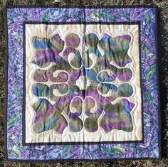 Hawaiian Hand Quilted  Wallhanging by BlueRidgePrims on Etsy, $50.00