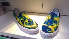 c735de680b doctor who exploding Tardis - Handpainted airbrushed vans shoes  vans   custom Doctor Who Shoes