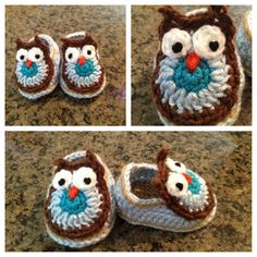 Baby owl shoes perfect shower gift by IrasMimi on Etsy, $15.00