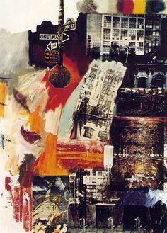 Estate, Robert, Rauschenberg, 1963 huile et encre sérigraphique sur toile, Philadelphia