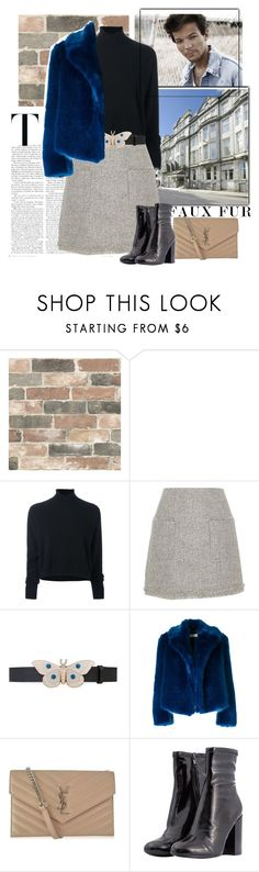 """""""Live Fast"""" by fashionista-jaygee ❤ liked on Polyvore featuring Wall Pops!, Farrow & Ball, Le Kasha, River Island, Gucci, Dries Van Noten, Yves Saint Laurent and fauxfur"""