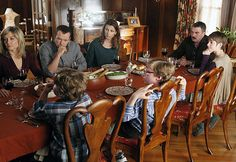 This is a picture of the dining room on the show Blue Bloods. I just love this show! Blue Templar, Movies Showing, Movies And Tv Shows, Blue Bloods Tv Show, Bridget Moynahan, Tom Selleck, Home Tv, Tv Times, Great Tv Shows