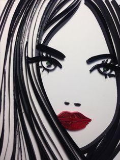 Quilling, Art Girl, Darth Vader, Silhouette, Draw, Cartoon, Artwork, Fictional Characters, Beautiful