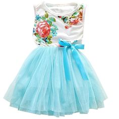 7d9d10c12fe Baby Girl Dress 2018 Summer Floral Flower Girls Dress for Wedding Party  Vestidos Birthday Clothes Princess Ball Gown Tutu Dress. Baby Care Fashion