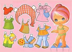 New Paper Dolls with Clothes