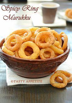 Tasty Appetite: RING MURUKKU / SPICY RING MURUKKU / CHEKODI / CHEGODILU / KODUBALE / EASY DIWAI RECIPES