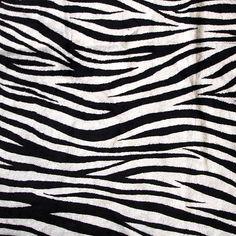 Zebra Print  Velvet Fabric With Printing Technique by FabricMart, $10.00