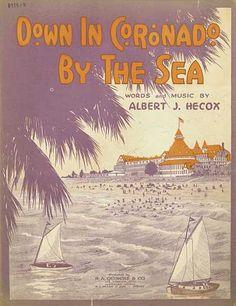 Down in Coronado By the Sea  (sheet music)