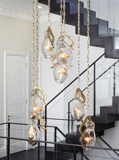 Amazing pendant by Lindsey Adelman in the Emperors Gate project by Dyer Grimes Architects