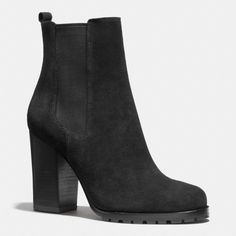 The Odelle Bootie from Coach - Beautiful bootie, although a bit of a struggle to get on and off... What is a bit of struggle for the beauty of Coach... Love of all things Coach!