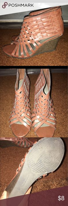 Brown Sandal Wedges Super cute! So sad to be selling them Shoes Wedges