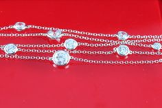 Bridal prom bracelet - white gold plated with white cubic zirconia stones