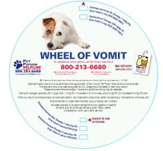 """Get your free """"Wheel of Vomit"""", Pet Poison Helpline's handy decontamination wheel shipped to your clinic!"""