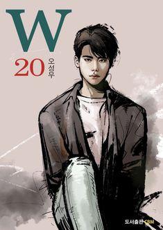 Lee Jong Suk Ceci, Lee Jung Suk, W Two Worlds Art, W Two Worlds Wallpaper, Kdrama W, W Korean Drama, Korean Tv Series, Kim Book, Korean Male Actors