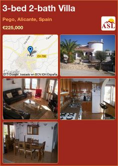 3-bed 2-bath Villa in Pego, Alicante, Spain ►€225,000 #PropertyForSaleInSpain