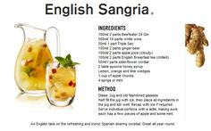 English Sangria...yummo http://guyism.com/lifestyle/alcohol/beefeater-unique-cocktails-gin-recipes.html#5-undefined